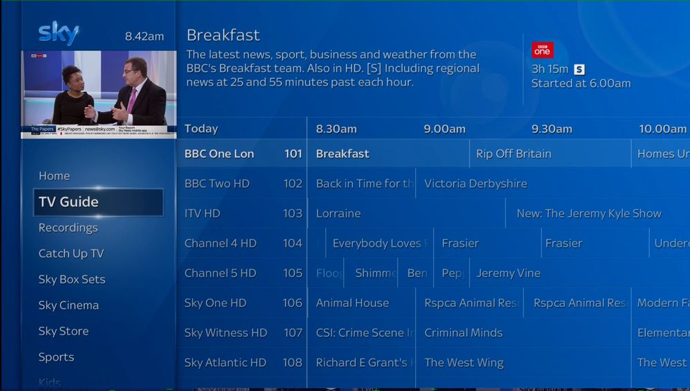 Launches & Changes to Sky Channels